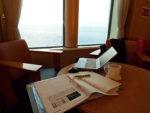 太平洋を眺めながら執筆